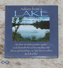 """LEANIN TREE """"Advice From A Lake"""" #26321 Magnet~Be Clear*Shore up Friendships*"""