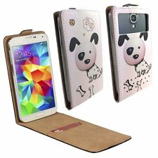 Mobile Flip Cover With Card Holder For Panasonic Eluga I2 - Dalmation M FLIP