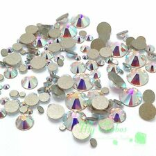 144 pcs Mixed Sizes Swarovski 2058/2088 Flatbacks No-Hotfix CRYSTAL AB (001 AB)