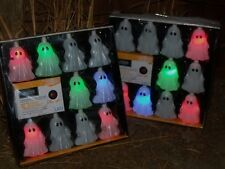 20 HALLOWEEN LIGHTED MUSICAL GHOST BLOW MOLD LIGHT COVERS STRING FIGURE SET LOT