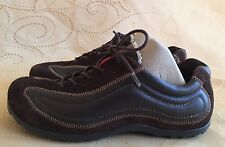 ECCO Women's Brown Suede & Leather, Lace Up Athletic Shoes - Size 38 EU 7-7.5 US