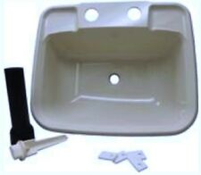 Boat Rv Mobile Home Sink Includes Drain and Pipe White Made in USA!!