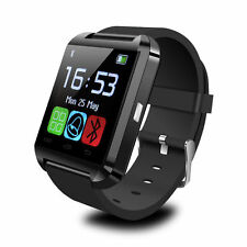 New Bluetooth Smart Wrist Watch Phone Mate For Android IOS Samsung iPhone Black