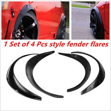 Universal Black Fender Flares 4 Piece Flexible Yet Durable Polyurethane For Car