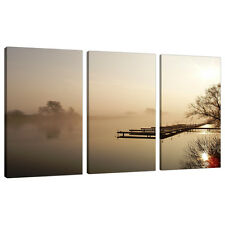 Set of Three Sepia Brown Canvases Living Bed Room Lounge Pictures 3117