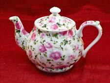Chintz Porcelain 32oz Teapot in Pink Roses