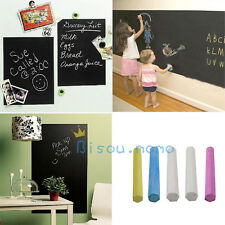 200x45cm Kid Child Gift Draw Chalkboard Blackboard Wall Sticker Decal + 5 Chalk