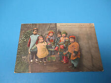 Chinese Children Chinatown 1910 Postmarked Vintage Color Postcard PC28