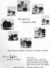 Mid-Century Modern Eames Molded Plywood Chair HERMAN MILLER 1949 Print Ad