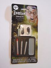 Step by Step Zombie Makeup Kit Trick or Treat Halloween Costume
