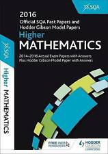 Higher Mathematics 2016-17 SQA Past Papers with Answers, SQA, Very Good, Paperba