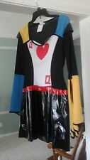 QUEEN OF HEARTS  COSTUME  ADULT L HALLOWEEN DRESS