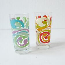 2 verres à eau / orangeade le parfait vintage années 70 design 1970 ancien rétro