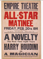 "*Postcard-AD-""HOUDINI @ The Empire Theatre"" -All-Star Matinee-"