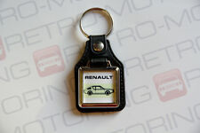 Renault 17 Keyring - Leatherette Retro Classic French Coupe Car Auto Keytag