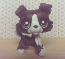 CUSTOM HAND PAINTED Littlest pet shop LPS black white and brown Collie OOAK
