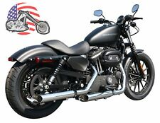 "Chrome Rush Baloney Cut 3"" Exhaust Slip On Mufflers 04-13 Harley Sportster 1.75"""