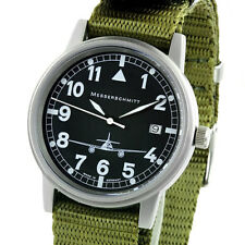 Aristo Messerschmitt 38.5mm Stainless Steel Case Pilot Watch, Nylon Band #ME262S