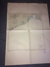 Map Cape Spencer To Point Lepreau Bay Of Fundy Canada 1963