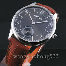 44mm NEW Parnis gray dial Seagull Hand Winding 6498 movement  Wristwatch 013