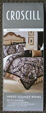 BRAND NEW CROSCILL IMPERIAL WC KING SIZE 4 PIECE COMFORTER SET FREE SHIPPING