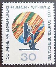GERMANY MNH STAMP DEUTSCHE BUNDESPOST BERLIN 1971 MATERIAL TESTING LAB SGB412