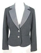 NWOT Cynthia Rowley Blazer S Womens Jacket Gray Poly Rayon Stretch Knit