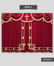 Saaria Church Event Hall Club Stage Home Theater Curtains 22'W x 8'H Royal-1