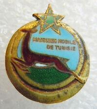 insigne boutonnière Sahara MAKHZEN MOBILE de TUNISIE émail miniature authentique