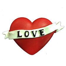 Calamita frigo a forma di cuore con scritta LOVE 8,5x5