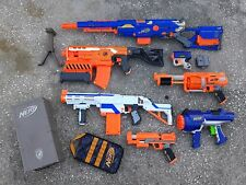 lot 7 Nerf blaster guns Long Strike Demolisher Retaliator FuryFire HyperFire +++