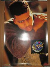 AL B SURE In Effect Mode promo poster, face shot, 1988, 24x36, EX