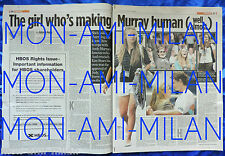 ANDY MURRAY Rare 2008 UK Newspaper Feature Article Cutting Clipping KIM SEARS