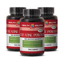 Muscle Gainer - CREATINE POWDER 100G Dietary Supplement 3 Bottles