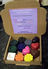 Dyes for candle making Set A ..dye up to 12 kilos of wax..12 different colours!