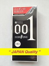 JAPAN limited Ver OKAMOTO Zero One 001 0.01mm Polyurethane Condom 3pcs Free Ship