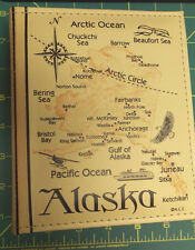 Alaska Photo Album holds 100 4x6 photos with map on both sides Plus a Postcard !
