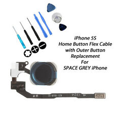 **NEW** Premium Quality Complete Home Button Replacement Kit FOR iPhone 5S BLACK