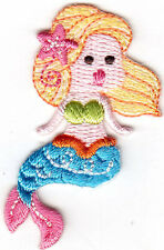 MERMAID - SEA CREATURE/Iron On Embroidered Applique/Beach/Seashells/Tropical