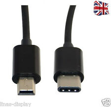 30cm USB 3.1 type-c Male to Mini usb 5pin Male Converter Data Charging Cable