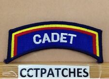 CADET POLICE ROCKER TAB BLUE/YELLOW/RED/WHITE SHOULDER PATCH