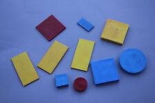 Ancien matériel scolaire PIECES Blocs Logiques Miniblocs Paris forme couleur