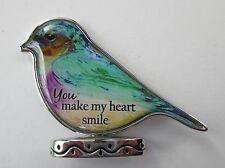 t You make my heart smile BEAUTIFUL BIRD FIGURINE ganz