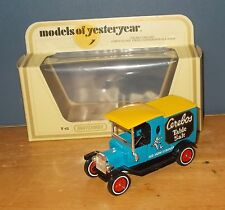 Matchbox Yesteryear Y12 Model T Ford Van Cerebos Salt Yellow Roof Issue 2