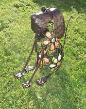 B-Ware Gartendekoration Gartenfigur Hund Metallfigur Skulptur Edelrost Garten