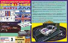 ANEXO DECAL 1/43 OPEL MANTA 400 ROTHMANS A.VATANEN MANX R. 1983 2nd (01)