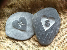 Hand made Cornish LOVE Pebble, with initial perfect wedding, anniversary gift!