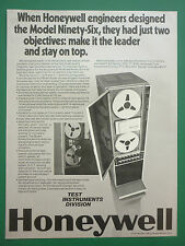 6/1975 PUB HONEYWELL TEST INSTRUMENT MODEL NINETY-SIX TAPE RECORDER ORIGINAL AD