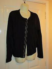 M&S BLACK SILVER BEADED CARDIGAN - PLUS Size 20