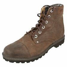 Mens tan leather ROCK PORT  lace up boots style SK59629 UK 8.5 (EURO 42.5)